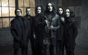 Picture rock band, metalcore, post-hardcore, Motionless In White