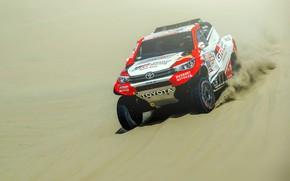 Picture Sand, Auto, Machine, Race, Toyota, Hilux, Rally, Dakar, Dakar, SUV, Rally, Sport, Toyota, Hilux, The …