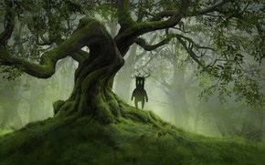 Picture tree, being, fantasy