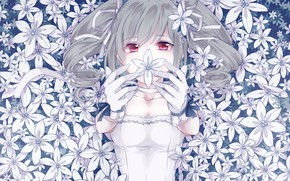 Picture look, flowers, girl, IdolM@ster