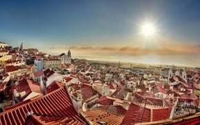 Wallpaper Lisbon, morning, the city