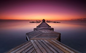 Picture sea, the sky, Board, the evening, pierce, a pleasure
