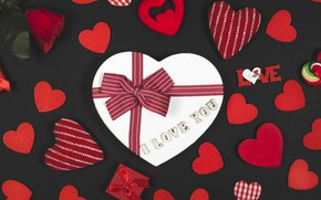 Wallpaper Gift, Valentine's day, Rose, Holiday, Valentine's day, Hearts