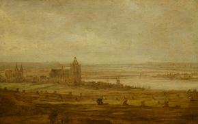 Picture landscape, oil, picture, Jan van Goyen, View Of Arnhem