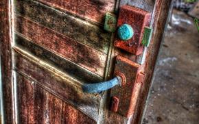 Picture castle, the door, rust