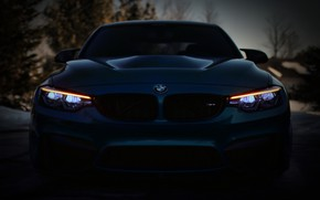 Wallpaper BMW, Blue, Front, F80, Sight, LED