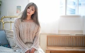 Picture girl, model, Girl, model, Korea, Korea, Han Ga Eun