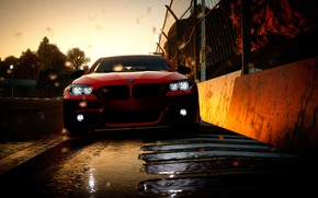 Picture car, bmw, red, game, corrida