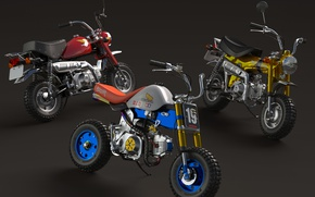 Wallpaper minibike, motorcycles, three, style