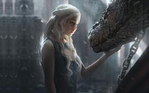 Picture dragon, fantasy, fragment, game of thrones, Daenerys Targaryen, Daenerys, G-host Lee, Daenerys Targaryen