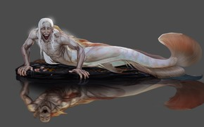 Picture mermaid, monster, art, tail