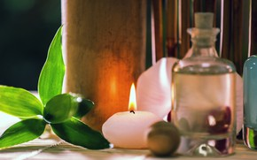 Picture oil, candles, Spa