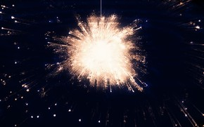Picture the sky, water, night, reflection, fireworks, by Y_Y