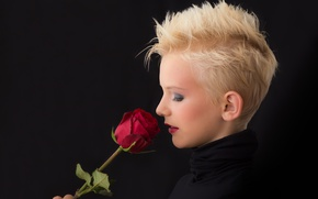 Picture girl, rose, Blondie