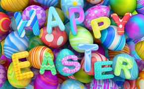 Wallpaper colorful, Easter, eggs, Easter, holidays, happy, design, eggs, graphics
