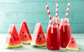 Wallpaper tube, jars, drink, juice, fresh, watermelon