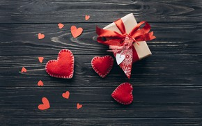 Picture background, Hearts, Holiday, Gift, Valentine's day