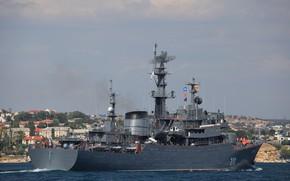 Picture Perekop, training ship, the visit to Sevastopol