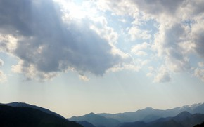 Picture the sky, mountains, nature, by MikeyMono