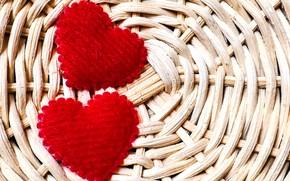 Picture hearts, basket, hearts, basket