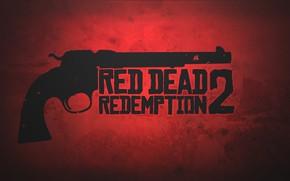 Picture red, gun, game, weapon, revolver, Red Dead Redemption 2