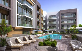 Picture building, pool, MODERN APARTMENT, SWIMMING POOL, dharwarwala pool