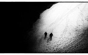 Picture Traces, Black, The way, Top, White, Two, Mood, Black and white, Dark, The course