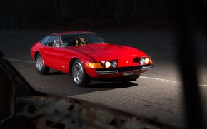 Picture Red, Color, Auto, Retro, Machine, Classic, Lights, Car, 365, Sports car, Gran Turismo, Daytona, Ferrari …