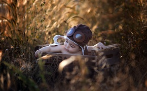 Picture nature, box, child