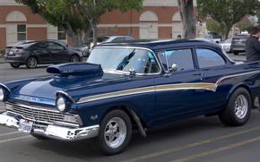 Picture retro, classic, Ford Tudor, 1957 Ford Custom 300 Tudor