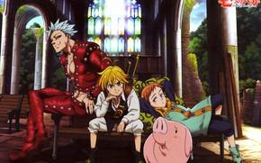 Picture game, anime, asian, manga, japanese, oriental, asiatic, powerful, strong, sugoi, Nanatsu no Taizai