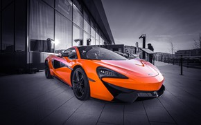 Picture orange, sports car, McLaren 570S