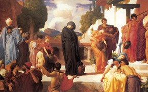 Picture people, area, antiquity, antique, Frederic Leighton, Captive Andromache