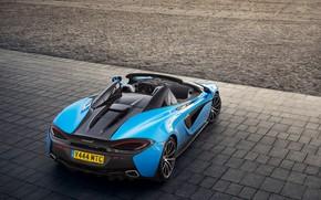 Picture McLaren, Spider, convertible, auto, 570S, blue, Worldwide