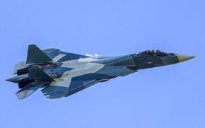 """Wallpaper fighter, Russia, T-50, multifunction, """"PAK FA"""", Su-57"""