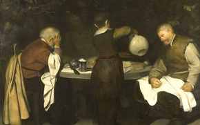 Picture oil, picture, canvas, feast, Supper at Emmaus