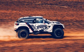 Picture Sand, Auto, Sport, Machine, Speed, Peugeot, Red Bull, Rally, SUV, Rally, Sport, The roads, DKR, …