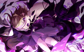 Picture look, girl, anime, dress, lies, vocaloid, kagamine rin