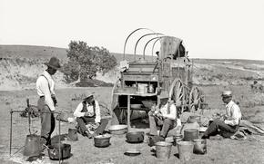 Wallpaper USA, halt, wild West, retro, 1901-the year