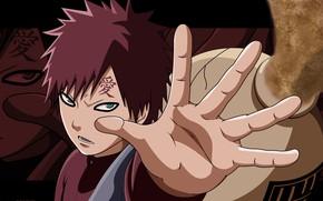Picture love, game, Naruto, anime, sand, ninja, hand, manga, shinobi, Naruto Shippuden, jinchuuriki, kanji, Gaara, suna, …