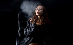 Picture girl, Sakura, smoke, beautiful, model, pretty, asian, cigar, smoker, asiatic, bishojo
