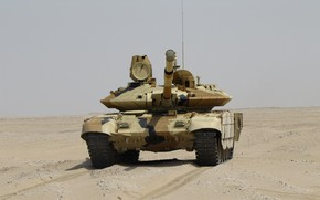 Wallpaper sand, tank, armor, MBT, Breakthrough, T-90 MS, UVZ, Russian weapons