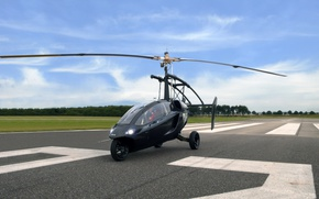 Picture sky, cloud, technology, kumo, flying car, Pal-v One, helicycle