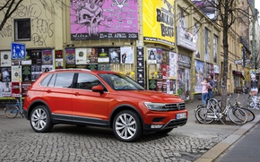 Picture Auto, Germany, Volkswagen, Machine, Car, Car, Auto, Germany, New, Volkswagen, Tiguan, Tiguan, 2016, Poster, 4motion