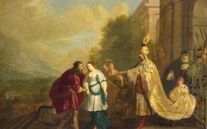 Picture picture, history, mythology, Pharaoh Returns Sarah To Abraham, Isaac Isaacsz