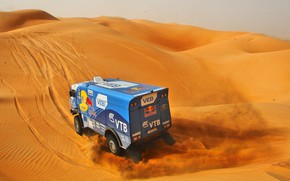 Picture The sky, Sand, Nature, Sport, Speed, Truck, Race, Master, Beauty, Russia, Beast, Heat, Kamaz, Rally, …