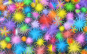Wallpaper stars, snowflakes, background, paint, bright, color, colorful, background