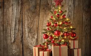 Wallpaper balls, decoration, balls, Board, tree, New Year, Christmas, gifts, tree, balls, wood, merry christmas, decoration, ...