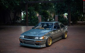 Picture Toyota, AE86, 1986, Corolla, front end conversion