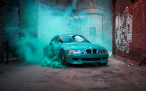 Wallpaper car, machine, auto, bridge, city, fog, race, bmw, BMW, car, sports car, car, need for ...